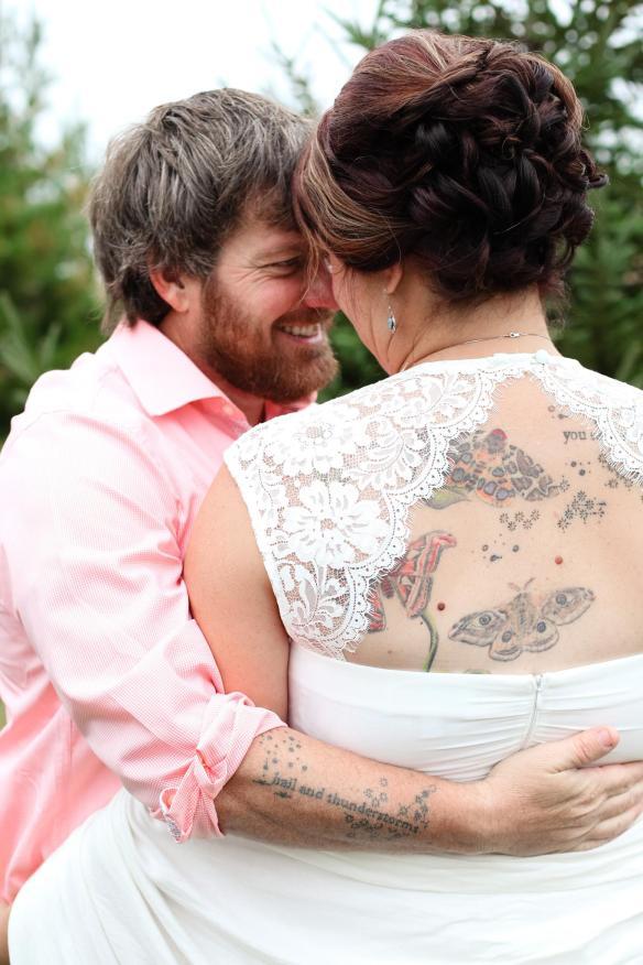 Keli and Jason on their wedding day