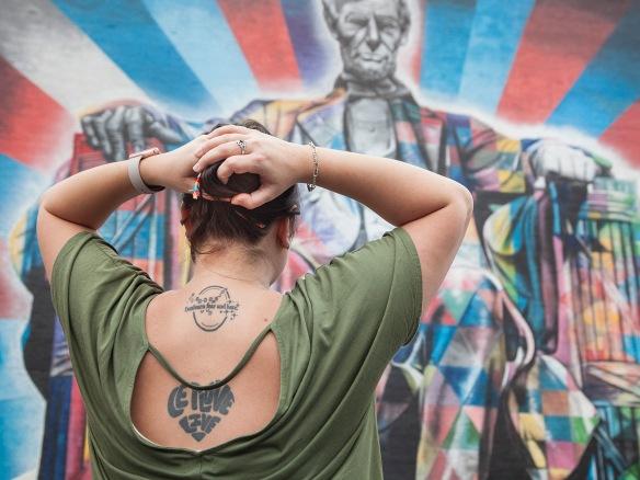 """Tori Amason's """"unlearn fear and hate"""" (photograph by Kurt Gohde and Kremena Todorova)"""